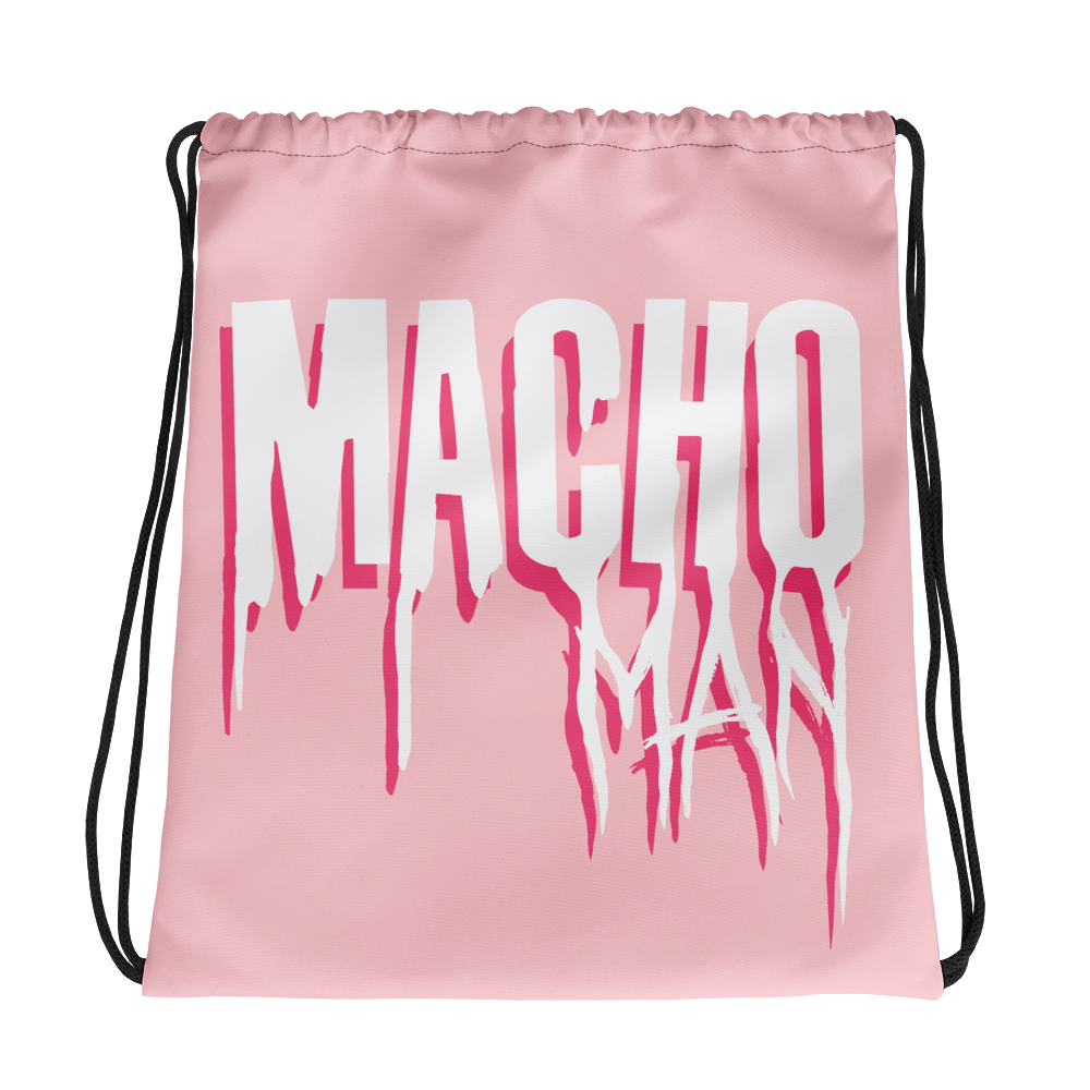 """Featured image for """"Macho Man - Drawstring bag"""""""