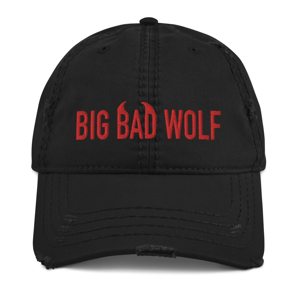 """Featured image for """"Big Bad Wolf - Distressed Dad Hat"""""""