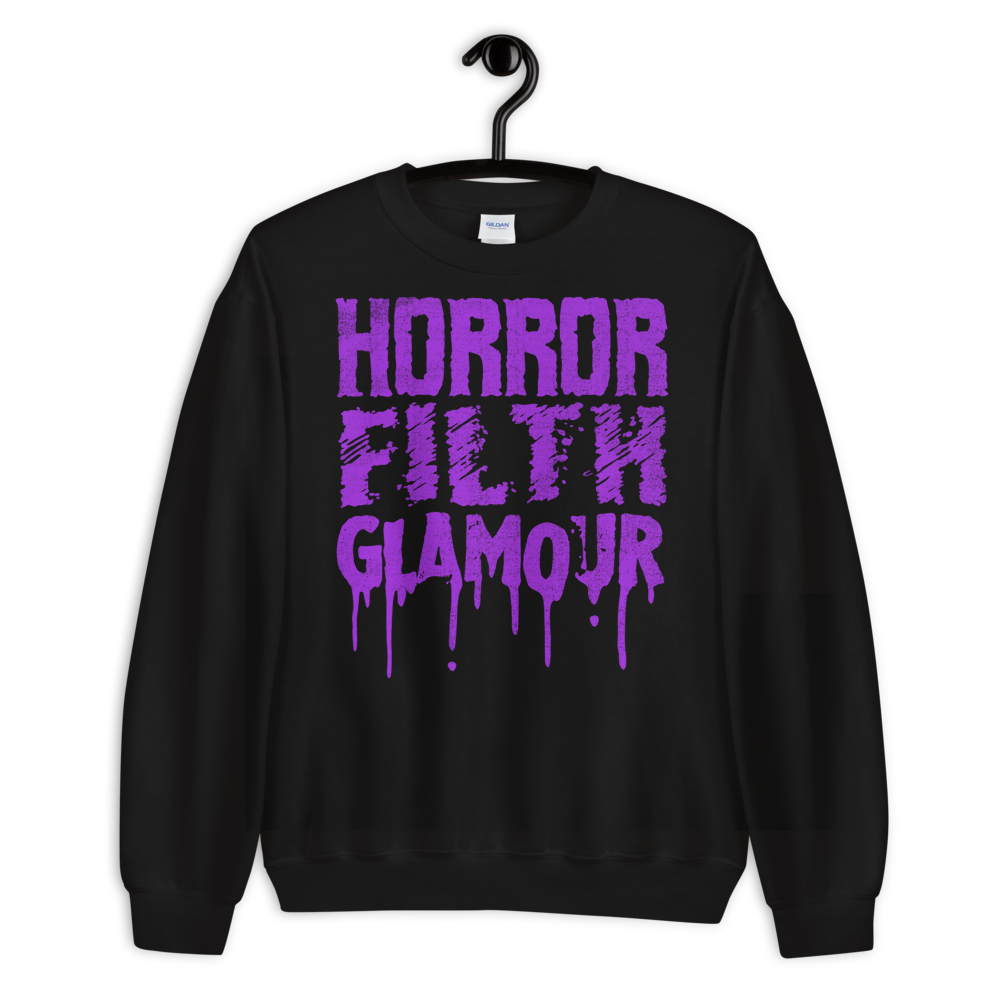 """Featured image for """"Horror Filth Glamour - Unisex Sweatshirt"""""""