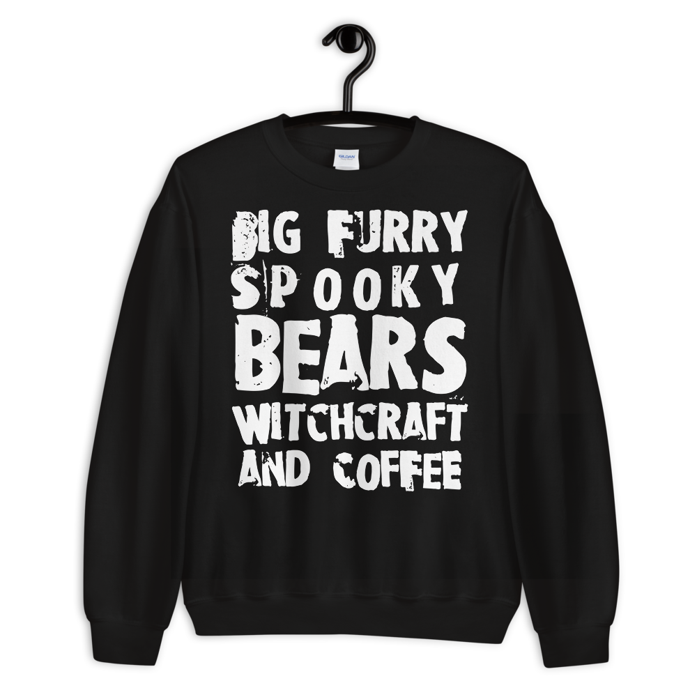 """Featured image for """"Bears, Witchcraft & Coffee - Unisex Sweatshirt"""""""