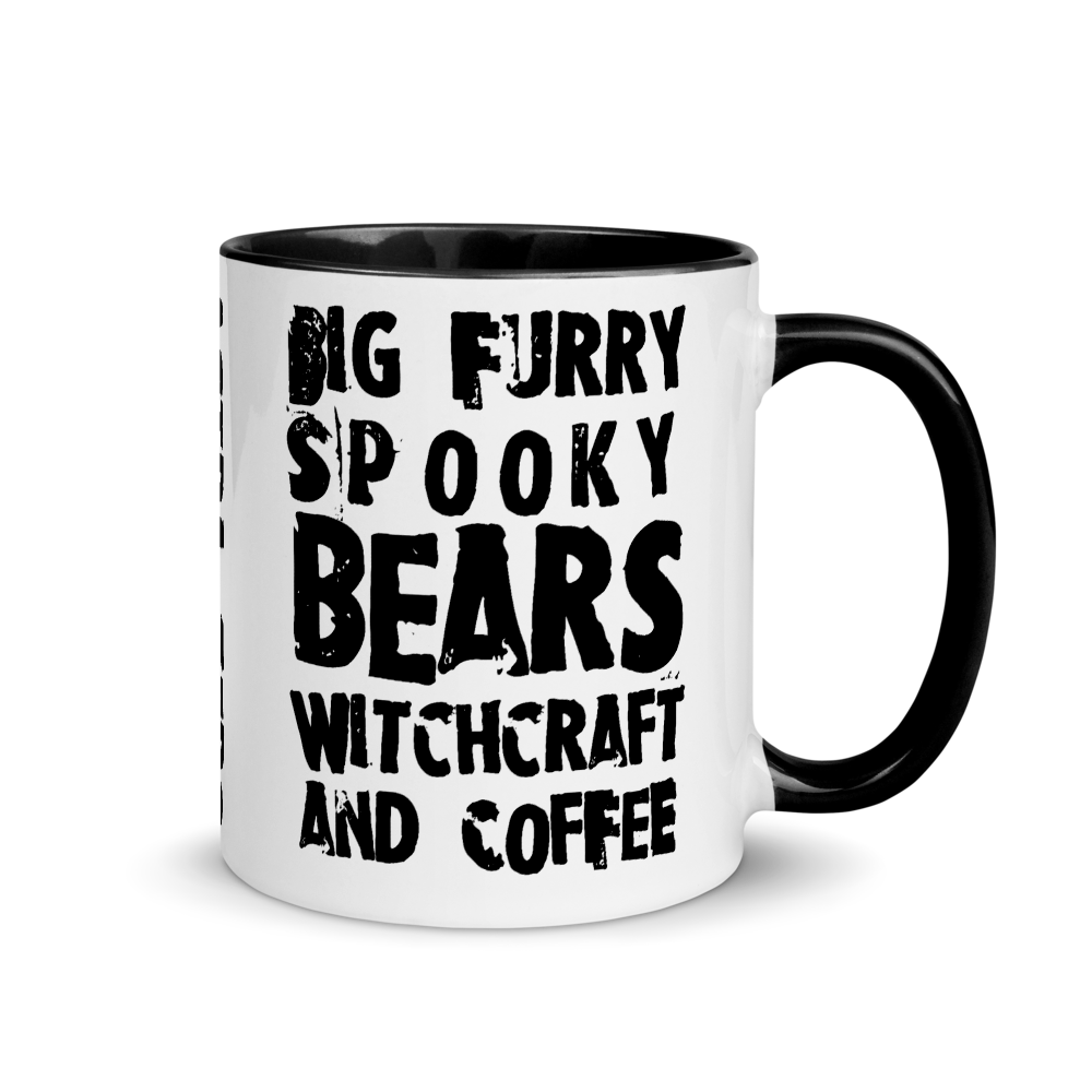 """Featured image for """"Bears, Witchcraft & Coffee - Mug with Color Inside"""""""
