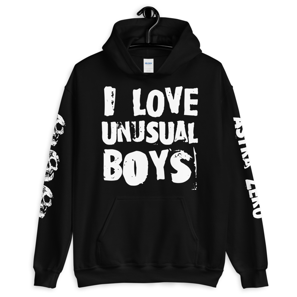 """Featured image for """"I Love Unusual Boys - Unisex Hoodie"""""""
