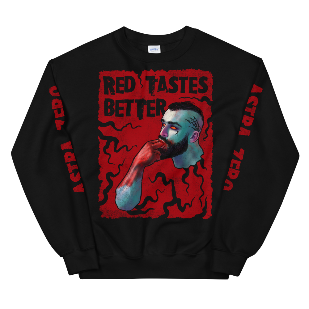 """Featured image for """"Red Tastes Better - Unisex Sweatshirt"""""""