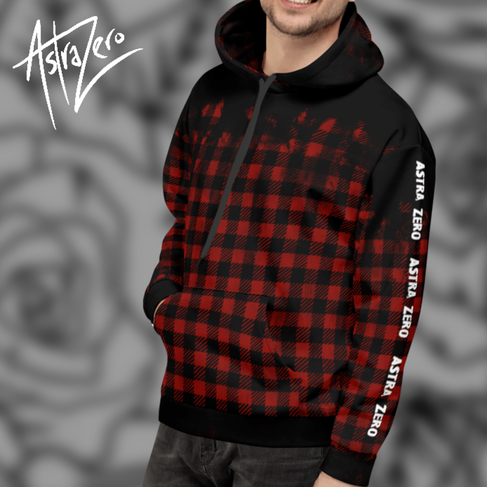 """Featured image for """"Dirty Red Faux Plaid - Unisex Hoodie"""""""