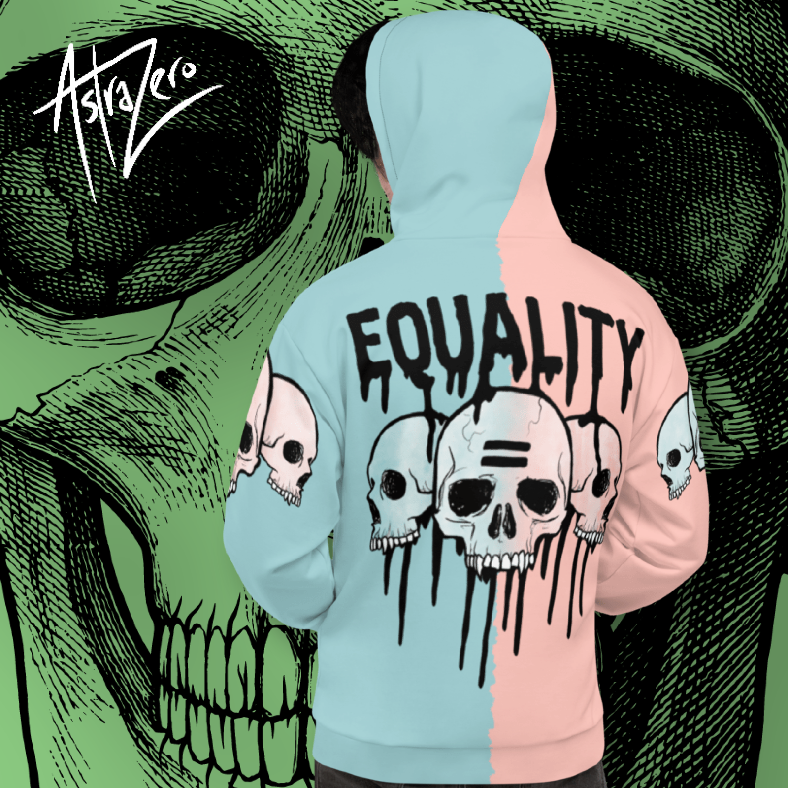 """Featured image for """"Equality Skulls (Pastel) - Unisex Hoodie"""""""