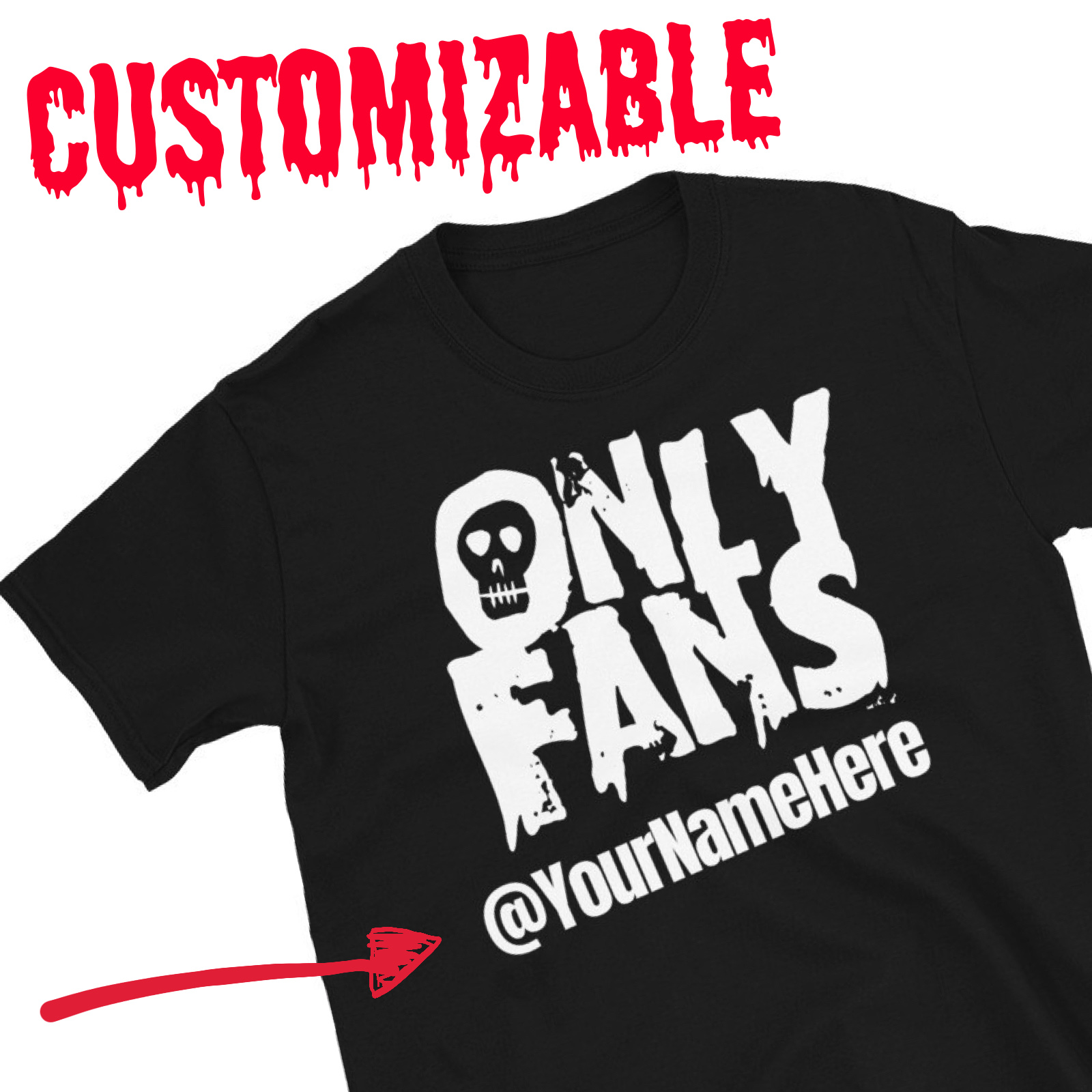 """Featured image for """"CUSTOM - OnlyFans - Short-Sleeve Unisex T-Shirt"""""""