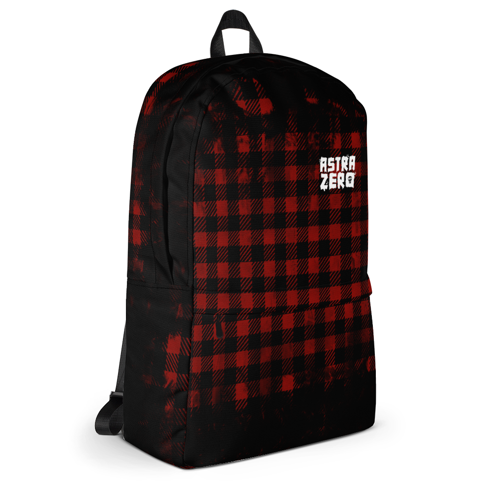 """Featured image for """"Grungy Red Faux Plaid - Backpack"""""""
