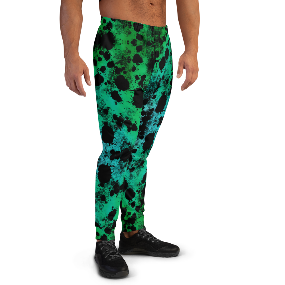 """Featured image for """"Green Splatter - Men's Joggers"""""""