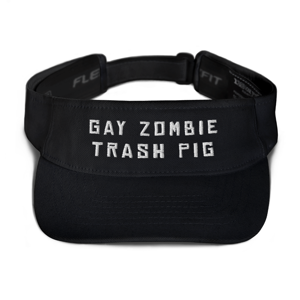 """Featured image for """"Gay Zombie Trash Pig - Visor"""""""