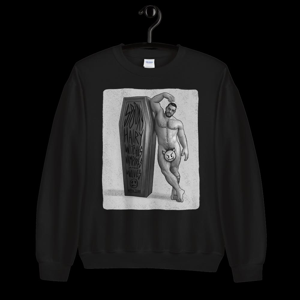 "Featured image for ""Hairy Vampire (Vintage Style) Unisex Sweatshirt"""