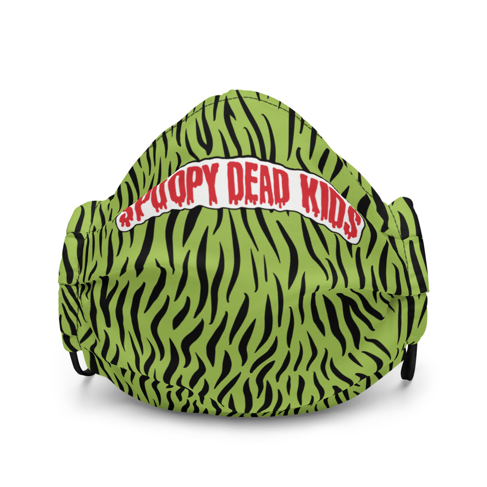 """Featured image for """"Spoopy Dead Kids - green -Premium face mask"""""""