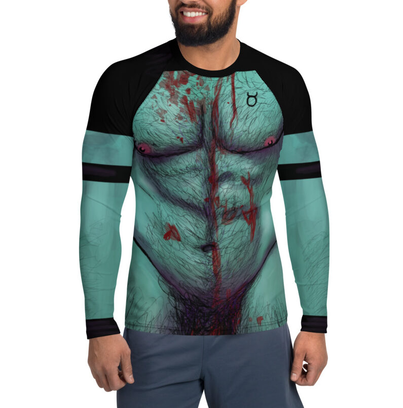"""Featured image for """"Zombie Daddy body Men's Rash Guard Top / Club Kid / Halloween / Cosplay"""""""