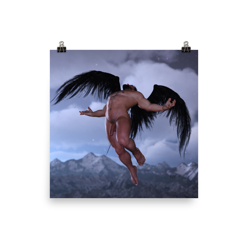 """Featured image for """"Broken Angel - Poster print"""""""
