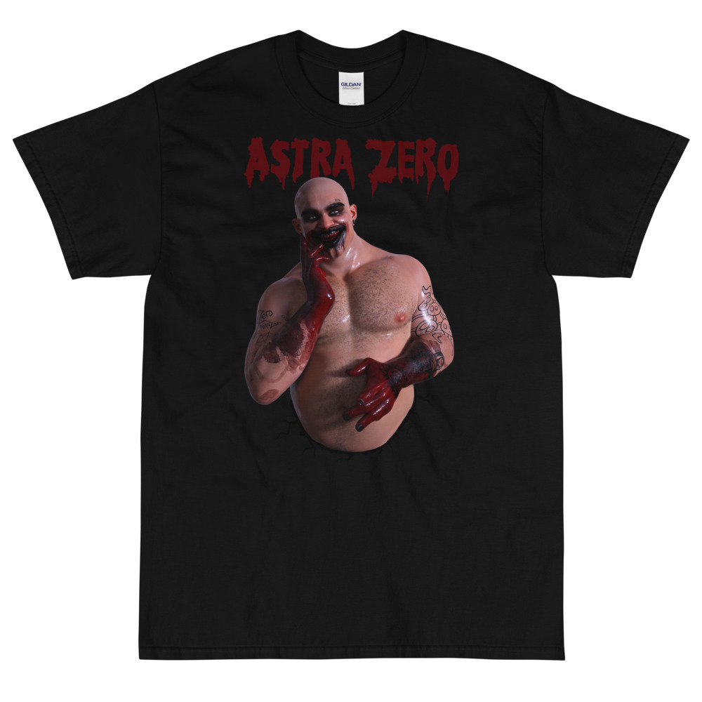 """Featured image for """"Blood Grin : Astra Zero - Classic Short Sleeve T-Shirt   Gildan 2000"""""""