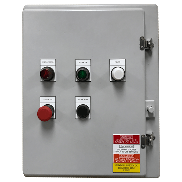 Main panel for a distillation skid in hazardous rated for Division 2