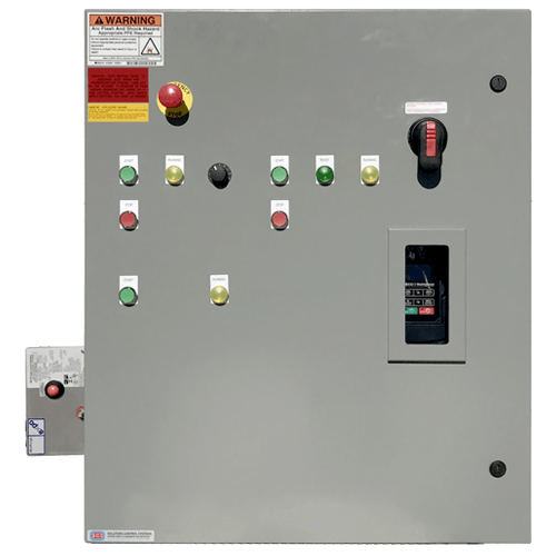 Local operator panel fitted with Z purge