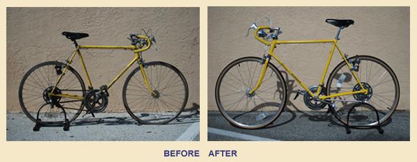 before and after bike restoration images