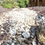 Traditional erosion practices begin to fail as organic materials build up in the rock, erosion fabric is exposed and water is channelized