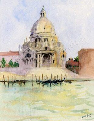 Church_of_San_Giorgio_Maggiore painting by Priscilla Prentice