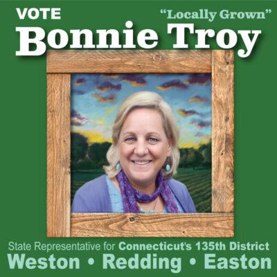 Campaign mailer for Bonnie Troy by Designer Priscilla Prentice