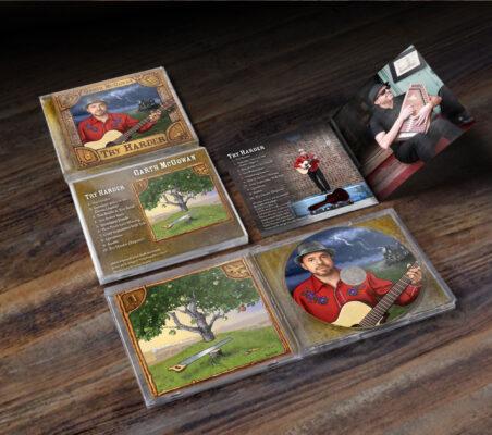 CD Case for Garth MCGowan Album on Spotify by Designer Priscilla Prentice