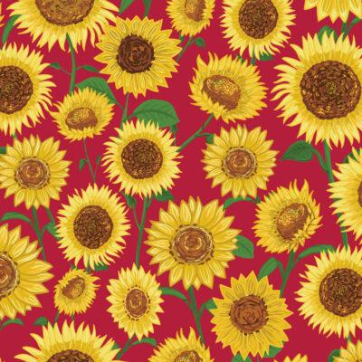 Sunflower print by Designer Priscilla Prentice