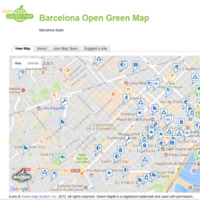 Image of Greenmap of Barcelona