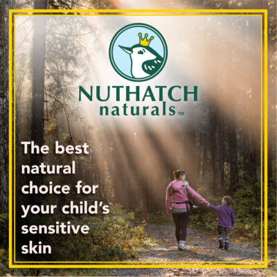 mom and daughter walking in the woods- nuthatch naturals