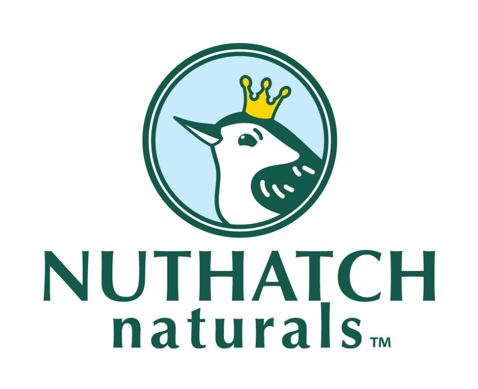 Nuthatch Naturals Logo with bird and wordmark tm