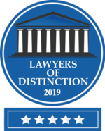 2019 Lawyers of Distinction 5 stars - family law attorneys tampa