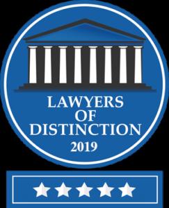 2019 Lawyers of Distinction Badge