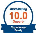AVVO 10.0 Superb Rating Top Attorney Family