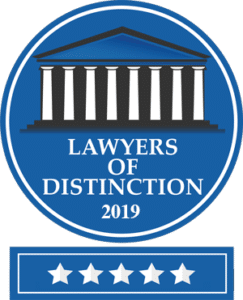 Lawyers of Distinction 2019 5 Stars - family law attorneys tampa