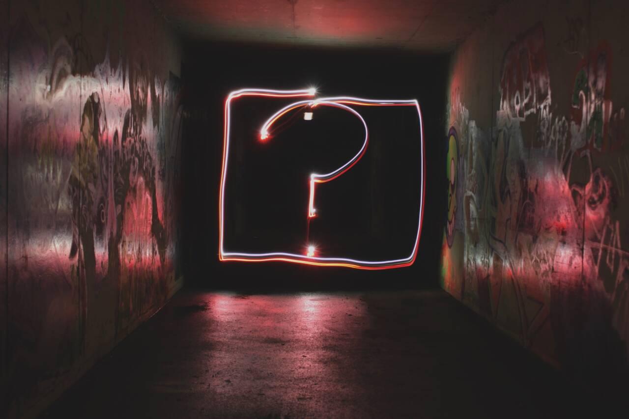 Question mark art