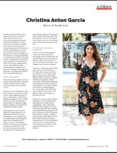 Christina Anton Garcia for Tampa Style Magazine
