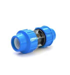 Irrigation Fittings - Compression Coupling. For sale at FarmAbility South Africa