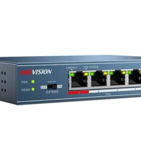 Hikvision Four Port Point Over Ethernet Switch. For sale at FarmAbility South Africa