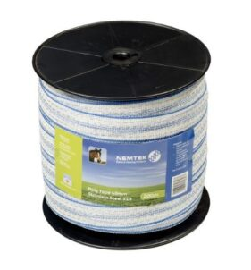 Nemtek Stainless Steel Poly Tape for Electric Fence in Coastal Areas. For sale at FarmAbility South Africa