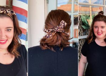 ways to wear a hair scarf