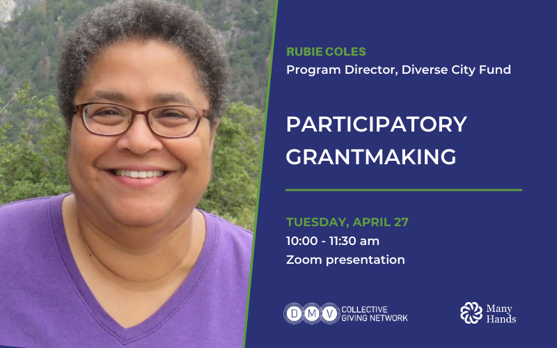 Invitation to participatory grantmaking program april 27 at 10am