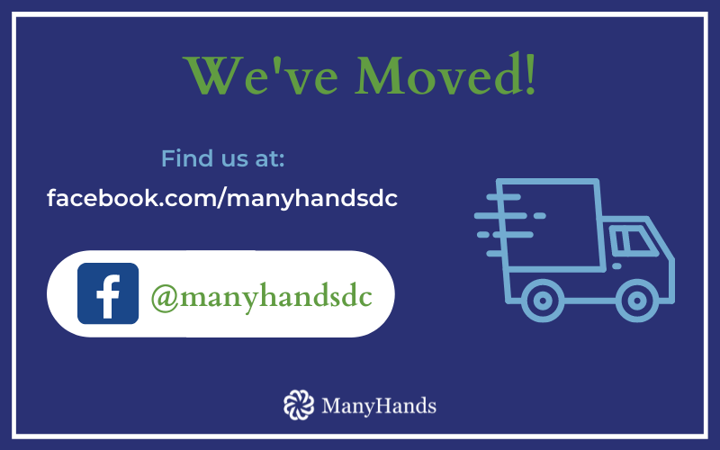 We've Moved! Find us at facebook.com/manyhandsdc, @manyhandsdc
