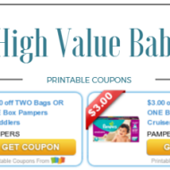 Free High Value Baby and Toddler Coupons