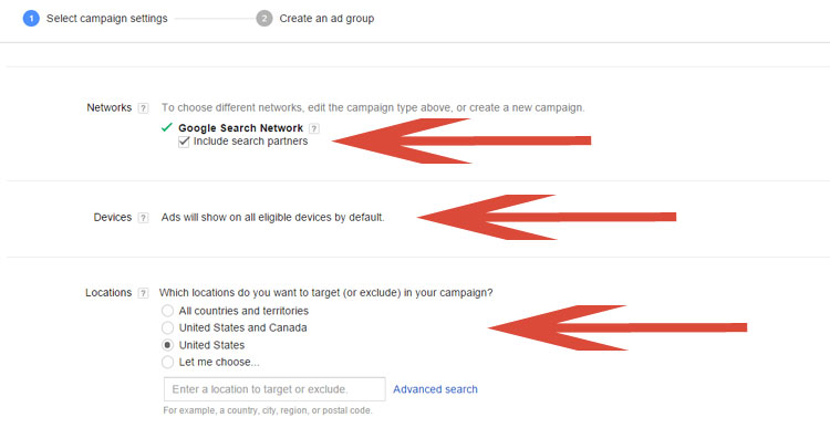 Selecting Proper Settings In A Google AdWords Campaign