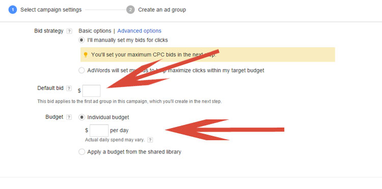 Determining Initial Budget In Google AdWords