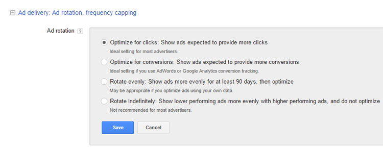 Ad Rotation Setting In Google AdWords