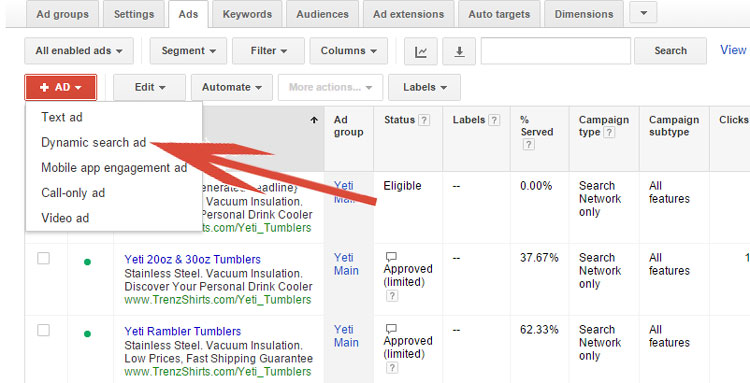 Creating Dynamic Search Ads