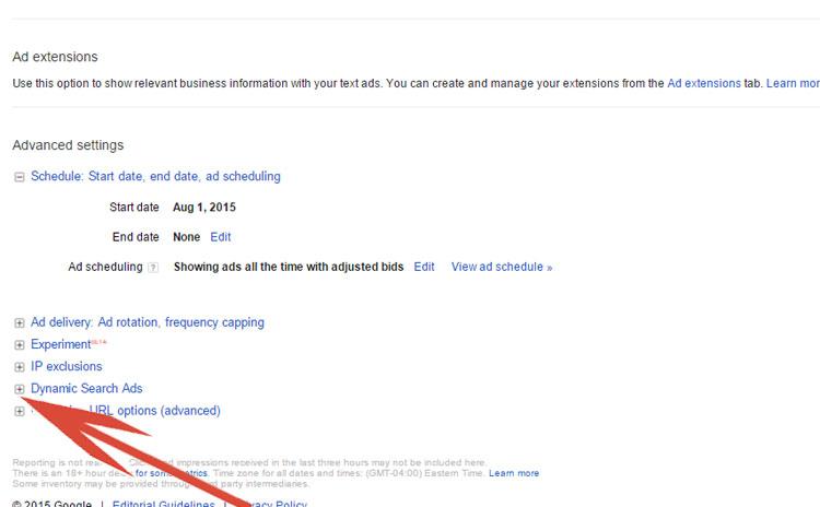 Enabling Dynamic Search Ads In Google AdWords