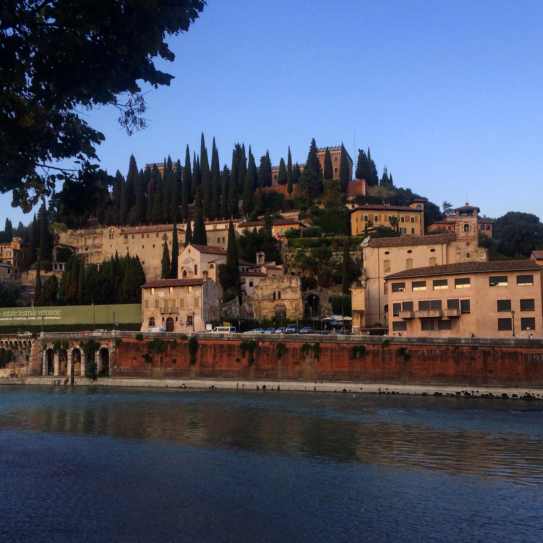Verona, en romantisk by.