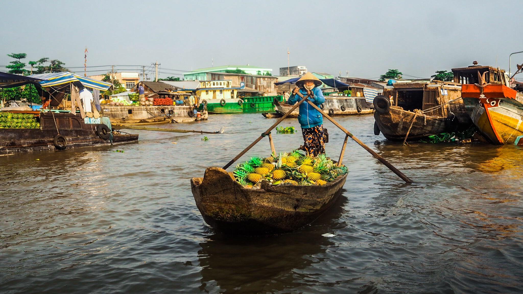 Cai Rang et historisk flytende market i Vietnam!