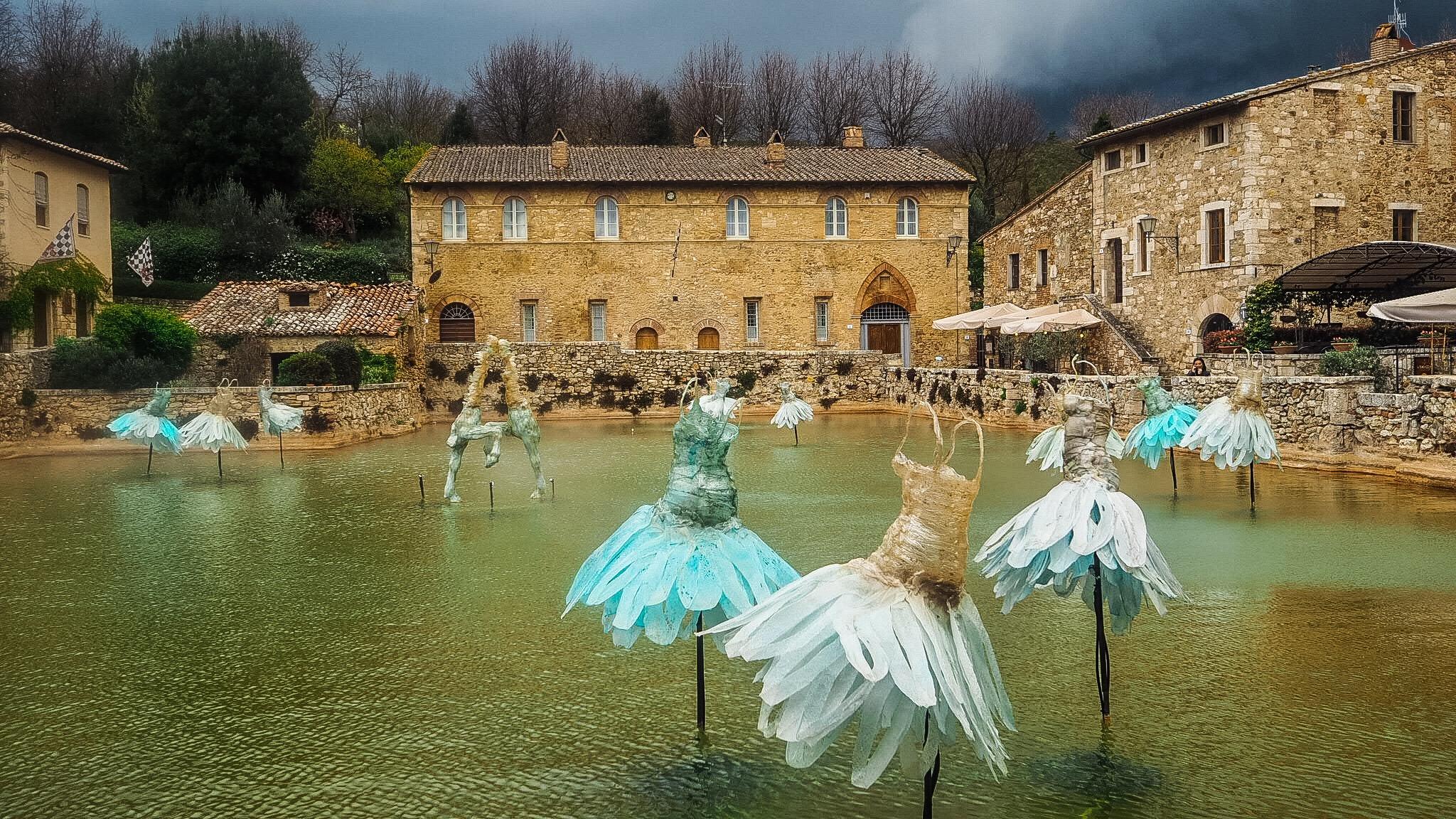 Perler på en snor i Toscana!